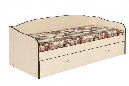 """Кровать с матрасом """"Амстердам"""" и ящиками для белья"""